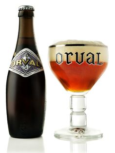 Information about the brewing and the beer of the Orval Trappist brewery. Brasserie d'Orval can be found in the Semois valley of Luxembourg province in Belgium. Orval Beer, Craft Bier, Beer Pairing, Dark Beer, Belgian Beer, Beer Brands, Beer Packaging, Beer Label, Wine And Beer