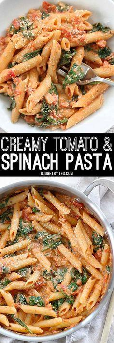 Com healthy vegetarian pasta recipes, cooked spinach recipes Healthy Vegetarian Diet, Healthy Pasta Recipes, Spinach Recipes, New Recipes, Vegetarian Recipes, Cooking Recipes, Dinner Healthy, Recipes Dinner, Chicken Recipes