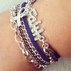 Hey, I found this really awesome Etsy listing at https://www.etsy.com/listing/157809379/sale-colon-cancer-wraparound-bracelet