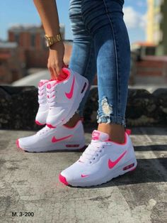 Nike match with your daughter White Nike Shoes, Nike Air Shoes, Jordan Shoes Girls, Girls Shoes, Sneakers Fashion, Fashion Shoes, Fashion Outfits, Latest Nike Shoes, Cute Sneakers