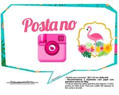 Uau! Veja o que temos para Plaquinhas para Festa Flamingo 5