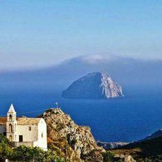 Chora village view..Kythira. Jonic Islands. Greece