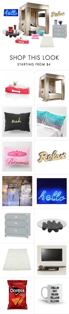"""welcome to my room"" by imlalaland125 ❤ liked on Polyvore featuring Fatboy, Bungalow 5 and Waverly"