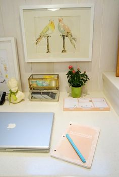 Spring Desk Refresh - Rambling Renovators