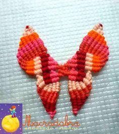Macradabra: Mariposa en Macramé
