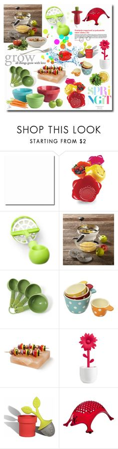 """""""Spring It"""" by oregonelegance ❤ liked on Polyvore featuring interior, interiors, interior design, home, home decor, interior decorating, Zak! Designs, Joseph Joseph, OXO and KitchenAid"""