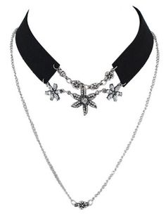 GET $50 NOW | Join RoseGal: Get YOUR $50 NOW!http://www.rosegal.com/necklaces/faux-leather-velvet-rhinestone-flower-727410.html?seid=6999291rg727410