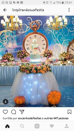 Immediate Systems For The Best Quinceanera Party Decorations - An Analysis - Party Fun Cinderella Sweet 16, Cinderella Theme, Cinderella Birthday, Cinderella Wedding, Quince Decorations, Birthday Party Decorations, Party Themes, Birthday Parties, Birthday Crowns