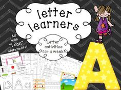 These activities include everything you need for a study of the letter for an entire week with math, science, reading, and writing! Perfect for toddlers, preschoolers, Pre-k, Kindergarten, PPCD, and Special Education.