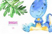 Dinosaurs. Watercolor collection. - Illustrations - 5