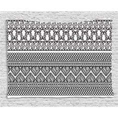 Home - Beauty Decor Now Traditional Bedroom Decor, Dorm Decorations, Dorm Room, Henna, Living Room Decor, Tapestry, Culture, Black And White, Wall