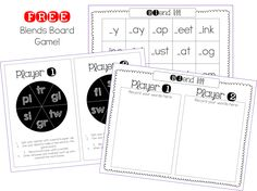 TGIF! - Thank God It's First Grade!: Free Consonant Blends Game!