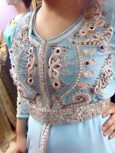 Embrodery caftan