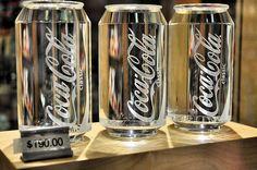 Copos Coca-Cola em cristal
