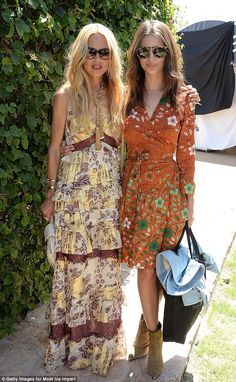 Fashion time: The style queen's (pictured last year with Emily) event is expected to attra...