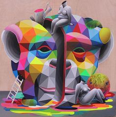 Coloring the World: Paintings by Okuda San Miguel | Faith is Torment | Art and Design Blog