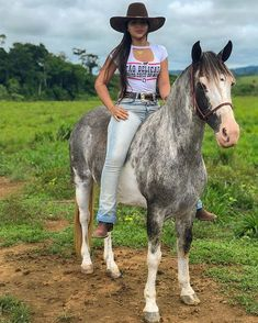 Image may contain: 1 person, sky, hat, horse, outdoor and nature Sexy Cowgirl Outfits, Rodeo Outfits, Country Outfits, Cow Girl, Horse Girl, Woman Riding Horse, Horse Riding Quotes, Hot Country Girls, Country Girl Style