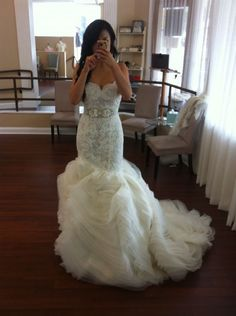 Lazaro 3201, $4,500 Size: 12 | New (Un-Altered) Wedding Dresses. #wedding #mybigday