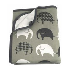 """Babydecke """"Elefant"""", grau-grau"""