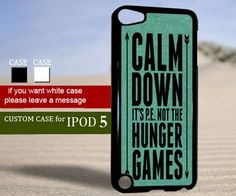 Calm down hunger games quote - Ipod 5 Case | TheYudiCase - Accessories on ArtFire