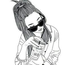 art, noir et blanc, dessin, grunge, hipster, inspiration, lunettes antisolaires, vintage
