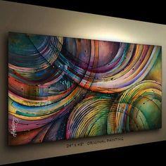 Risultati immagini per cuadros michael lang Abstract Canvas, Canvas Art, Bild Gold, Painting Inspiration, Art Images, Amazing Art, Modern Art, Cool Art, Art Drawings