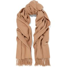 Acne Studios Canada fringed wool scarf (10.590 RUB) ❤ liked on Polyvore featuring accessories, scarves, brown, fringe scarves, long scarves, woolen shawl, brown shawl and woolen scarves