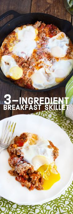 3-Ingredient Breakfast Skillet- Gluten-free, dairy-free, paleo | Lexi's Clean Kitchen