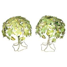 Check out this item at One Kings Lane! Midcentury Italian Tole Lamps, Pair