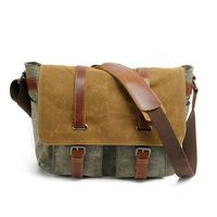 61d9309d28 Waxed Canvas Messenger Bag   Leather Messenger Bag   Satchel   Briefcase men(S25)  from Uni4 Bags
