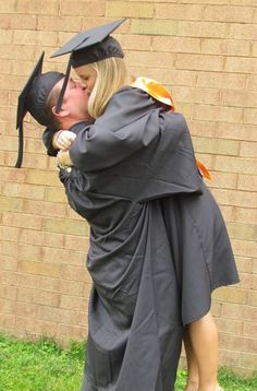 Fiance & I after we graduated college! <3