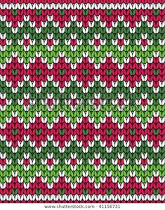 jacquard color rojo y verde Baby Knitting Patterns, Knitting Stiches, Crochet Stitches Patterns, Knitting Charts, Crochet Chart, Cross Stitch Patterns, Fair Isle Chart, Fair Isle Pattern, Tejido Fair Isle