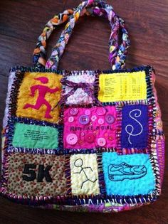 Teesha Moore tote bag - Running theme - PURSES, BAGS, WALLETS