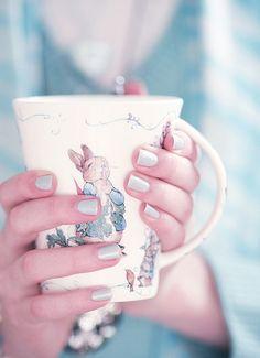 Beatrix Potter mug. My very favorite coffee mug.