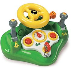 Ertl John Deere Busy Driver Tomy - Layered sound allows realistic driving experience Interactive levers and knobs Durable plastic molding Recommended Age Range 18 Mos. to 5 Years Toddler Toys, Baby Toys, Kids Toys, John Deere Kids, Plastic Moulding, Farm Fun, John Deere Tractors, Baby Games, Business For Kids