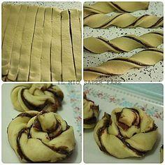 Girelle+di+pan+brioche+alla+nutella