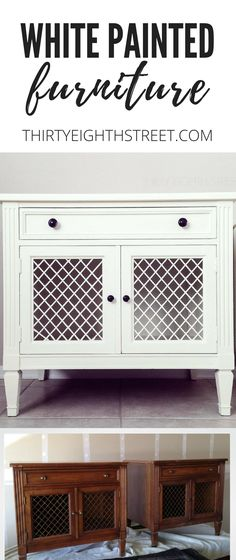 5 GREAT Tips For Painting Furniture With Chalk Paint®! GORGEOUS White Painted Furniture Before and Afters. | Thirty Eighth Street