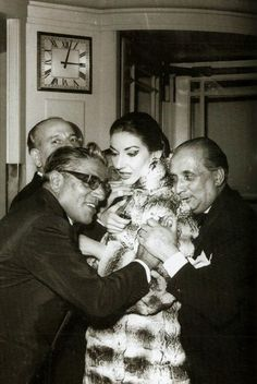 Aristoteles Onassis, Maria Callas and Battista Meneghini