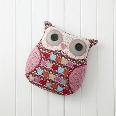 Ditsy Print Patchwork Owl Cushion