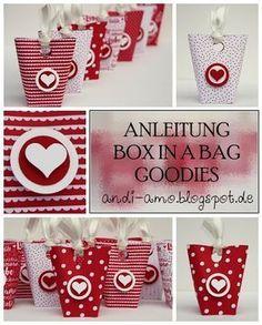 andi-amo: Anleitung Box in a bag Goodie Stampin Up Designpapier Liebe Grüße