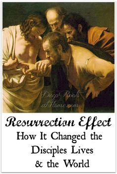 Resurrection Effect: How It Changed the Disciple's Lives & the World. The disciples and Jesus's wounded side Christian Living, Christian Life, Light Of Christ, Daughters Of The King, Love People, Easter Ideas, Word Of God, Happy Life, Christianity