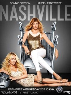 These two ladies are brilliant in their roles. Very believable as their characters.   Previous pinner wrote: Nashville (ABC) Cast: Perfect, Plot: Great.  ABC needs a musical drama. Fox has Glee and NBC has Smash. I think ABC's got something good on their hands.  Guess: Renewed