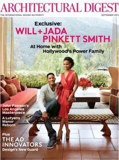 Will and Jada Smith on the cover of Architectural Digest