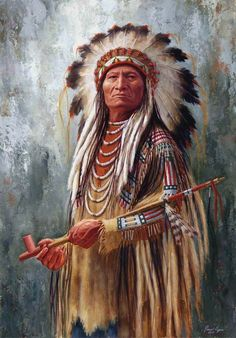 Chief with peace pipe
