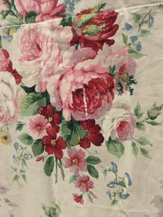 Glorious vintage Sanderson roses curtain