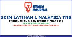 Skim Latihan 1 Malaysia TNB Industri Bekalan Elektrik | Pengambilan Sesi 2017 mereka yang berminat jangan lepaskan peluang untuk membuat permohonan