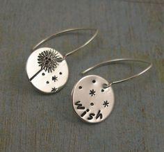 tee hee.... #dandelion #earrings!  #etsy, #jewelry @Kathleen Piazza