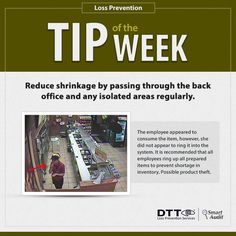 LP Tip of the Week: Reduce shrinkage by passing through the back office & any isolated areas regularly #DTTLPTips