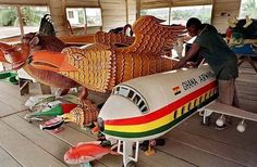 Coffins made in Ghana