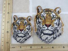 Tiger Patch Iron/Sew On by lxfun on Etsy